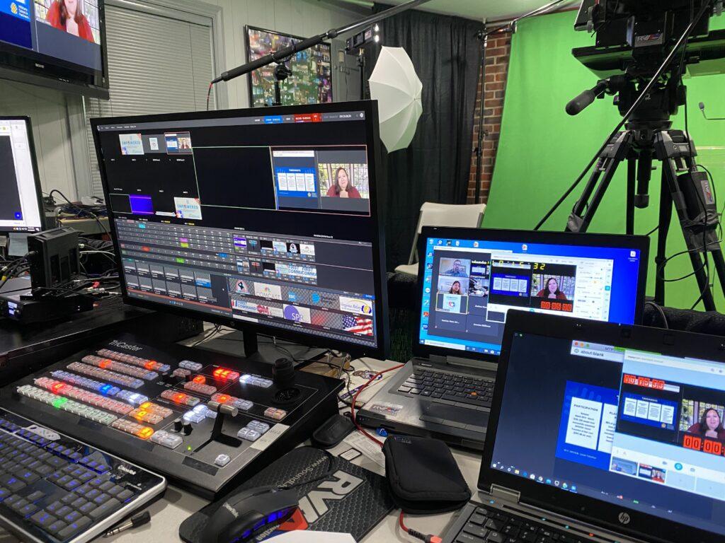 virtual event recording studio